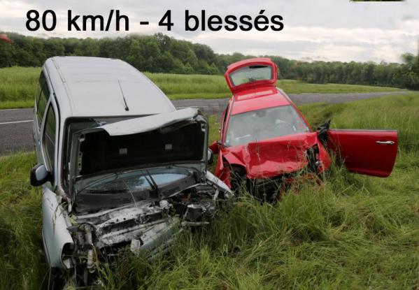80 km h 4 blesses
