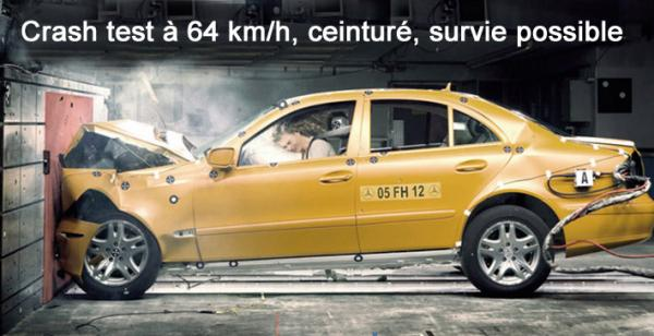 Crash test 64 km h texte