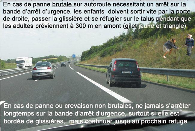 Panne sur autoroute texte haut et bas 1