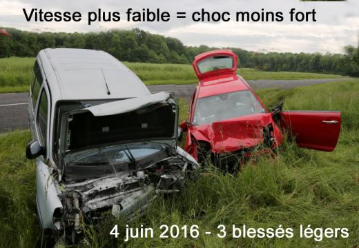 Vitesse faible chocfaible 3 blesses legers