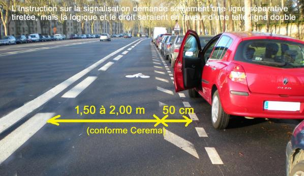 Bande cyclable conforme 1